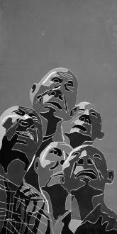 Fang Lijun – Woodcuts - 2001.16.24, 2001. Woodcut, edition of 15, 8 x 4 ft.