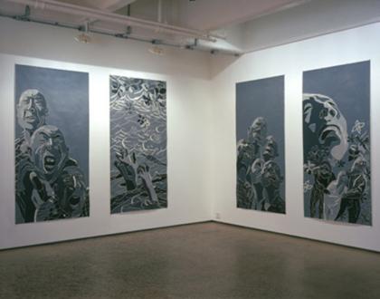 Fang Lijun – Woodcuts - Installation view.