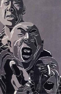 Fang Lijun – Woodcuts - Thomas Erben Gallery