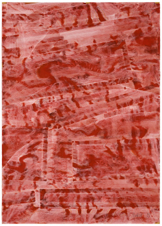 Spirited Densities – Ryan McLaughlin, Zach Nader, Ferdinand Penker, Emma Webster - Ferdinand Penker, Ohne Titel, 1999. Tempera on paper, 30 x 27.5 in.