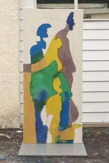 Box Paintings - <i>The Good, The Bad</i>, 2017. Acrylic and acrylic mediums on canvas (two-sided) 82 × 36 in.