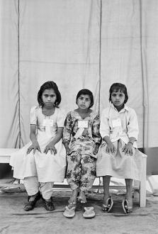 Gauri Gill – 'Balika Mela' and 'Jannat' - Licchma, Kaali and Raju, 2003. Archival inkjet print, edition of 7 (+1 AP), 42 x 28 in.