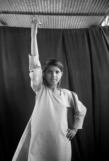 Gauri Gill – 'Balika Mela' and 'Jannat' - Revanti 2003. Archival inkjet print, edition of 3, 62.5 x 42 in.