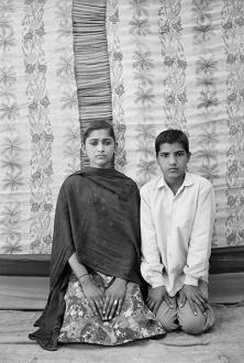 Gauri Gill – 'Balika Mela' and 'Jannat' - Savitri and Poonam, 2003. Archival inkjet print, edition of 7 (+1 AP), 42 x 28 in.