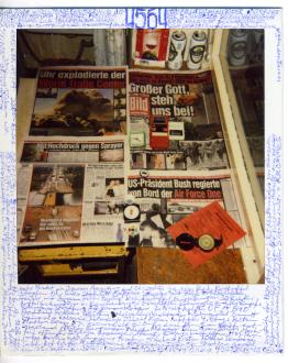 are you dead, yet? – Horst Ademeit, Jason Eberspeaker, Kahlil Robert Irving, Mira Schor - Horst Ademeit, 4564, undated. Inscribed polaroid, 11 x 9 cm © Estate of Horst Ademeit / Delmes & Zander, Cologne