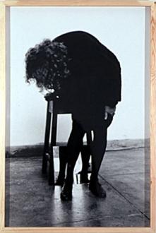 Pintura Habitada and other works, 1975 – present - Dentro de mim, 2000. B/W photograph, 52 x 35.5 in.