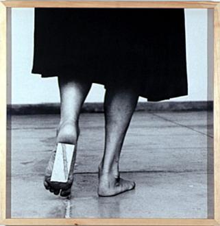 Pintura Habitada and other works, 1975 – present - Dentro de mim, 2000. B/W photograph, 41 x 41 in.