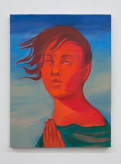 Painting Forward – Joan Brown, Charles Garabedian, Jackie Gendel, Haley Josephs, , Kyle Starver - Haley Josephs, A Human is a Speaking Flame, 2016, oil on canvas, 25 x 19 1/4 in.