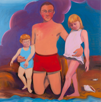 Painting Forward – Joan Brown, Charles Garabedian, Jackie Gendel, Haley Josephs, , Kyle Starver - Haley Josephs, At the Edge of the Sea, 2016, oil on canvas, 60 x 60 in.