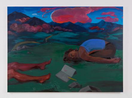 Painting Forward – Joan Brown, Charles Garabedian, Jackie Gendel, Haley Josephs, , Kyle Starver - Haley Josephs, Night Painting (Emergence of Clouds), 2016, oil on canvas, 72 x 96 in.