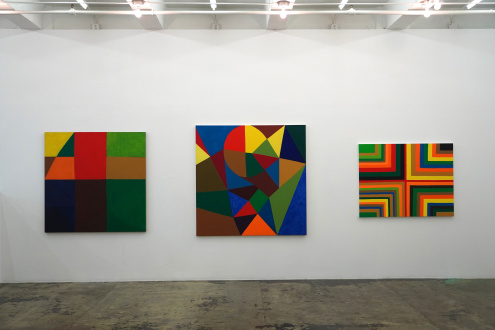 Harriet Korman Notes on Painting: 1969 – 2019 - Installation view: East wall
