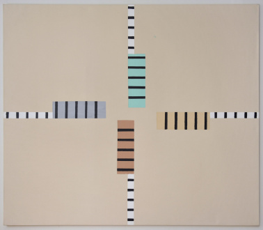 Harriet Korman Notes on Painting: 1969 – 2019 - <i>Untitled</i>, 1971. Acrylic on unprimed canvas, 72 x 84 in.