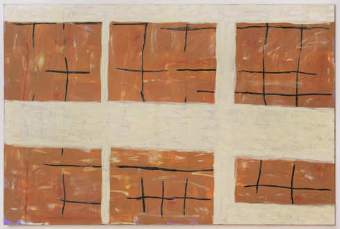 Harriet Korman Notes on Painting: 1969 – 2019 - <i>Untitled</i>, 1991. Oil on canvas, 48 x 72 in.