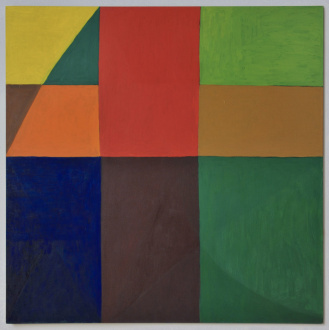 Harriet Korman Notes on Painting: 1969 – 2019 - <i>Untitled</i>, 1999. Oil on canvas, 54 x 54 in.