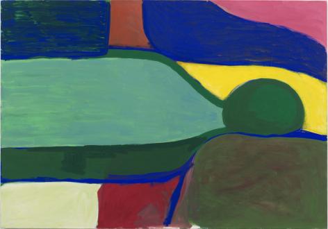 Painting in due time – Scott Anderson, Lydia Dona, Denzil Hurley, Harriet Korman, Hanneline Røgeberg, Marcus Weber - Harriett Korman, <i>Figure sleeping</i>, 1979. Oil on canvas, 106.7 x 152.4 cm