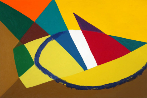 of certain instability – Whitney Claflin, Harriet Korman, Nolan Simon, Hans-Peter Thomas aka Bara - Harriet Korman, <i>Untitled</i>, 2007. Oil on canvas, 24 x 36 in.