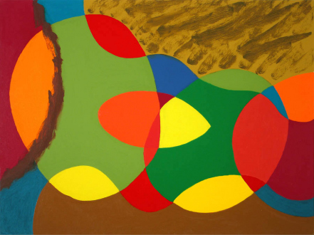 of certain instability – Whitney Claflin, Harriet Korman, Nolan Simon, Hans-Peter Thomas aka Bara - Harriet Korman, <i>Untitled</i>, 2006. Oil on canvas, 30 x 40 in.