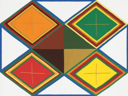 Painting in due time – Scott Anderson, Lydia Dona, Denzil Hurley, Harriet Korman, Hanneline Røgeberg, Marcus Weber - Harriet Korman, <i>Untitled</i>, 2014. Oil on canvas, 48 x 36 in.
