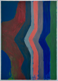 Harriet Korman Notes on Painting: 1969 – 2019 - <i>Untitled</i>, 1977. Oil on canvas, 84 x 60 in.
