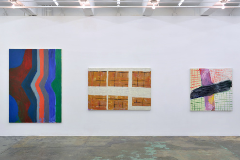 Harriet Korman Notes on Painting: 1969 – 2019 - Installation view: West wall