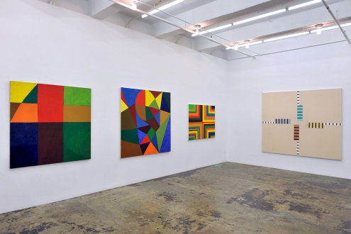Harriet Korman Notes on Painting: 1969 – 2019 - Installation view: East & South walls
