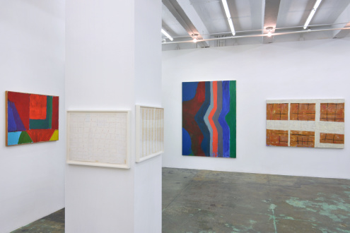 Harriet Korman Notes on Painting: 1969 – 2019 - Installation view: South & West walls
