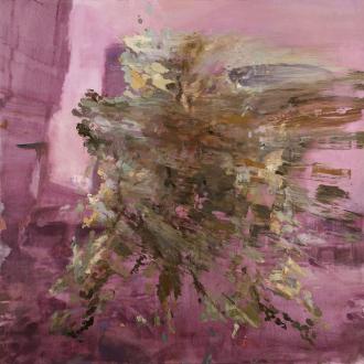 Hard Sauce – Hanneline Røgeberg - Rebound, Extrovert, 2013. Oil on canvas, 79 x 79 in.