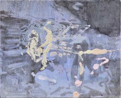 Hard Sauce – Hanneline Røgeberg - In the Field (for Glenn), 2016. Oil on canvas, 18 x 22 in.