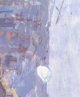 Painting in due time – Scott Anderson, Lydia Dona, Denzil Hurley, Harriet Korman, Hanneline Røgeberg, Marcus Weber - Hanneline Røgeberg, Detail of <i>Lede</i>, 2016. Oil on canvas 96 x 84 in.