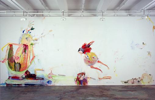 Pia Maria Martin, Haeri Yoo, Yuh-Shioh Wong - Haeri Yoo: Bugging, Talking, Teasing, 2006. Mixed media installation, 10 x 44 ft. in total (detail).