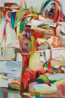 Haeri Yoo – Pain Patch - Haeri Yoo, Chin Table, 2008. Acrylic and pigment on canvas. 72 x 48 in