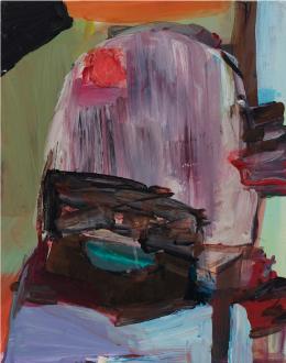 Haeri Yoo – Pain Patch - Haeri Yoo, Red Stain, 2008. Acryllic on canvas, 14 x 11 in.