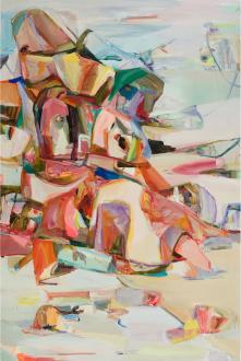 Haeri Yoo – Pain Patch - Haeri Yoo, Shore, 2008. Acrylic and pigment on canvas, 72 x 48 in.