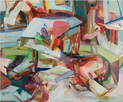 Haeri Yoo – Pain Patch - Haeri Yoo, Wobbling Memory, 2008. Acrylic and pigment on canvas. 60 x 72 in.