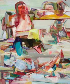 Haeri Yoo – Pain Patch - Haeri Yoo, Yellow Piece, 2008. Acrylic and pigment on canvas, 72 x 60 in.