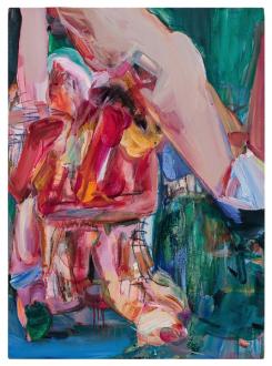 Haeri Yoo – Body Hoarding - Hurting Big Toe, 2010. Acrylic, pastel, spray paint on canvas, 38 x 27.75 in.