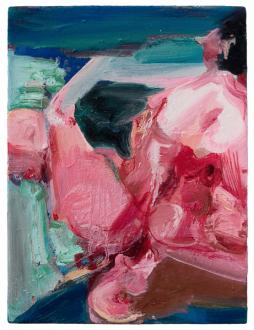 Haeri Yoo – Body Hoarding - Pink Dream, 2010. Oil on canvas, 16 x 12 in.