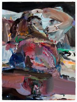 Haeri Yoo – Body Hoarding - Sick Bed, 2010. Acrylic, collage on board, 12 x 9 in.