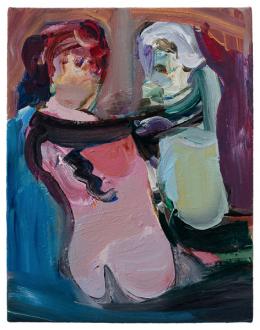 Haeri Yoo – Body Hoarding - Unzipping, 2010. Acrylic on canvas, 14 x 11 in.