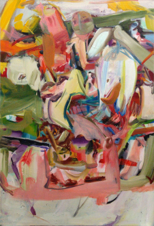 Haeri Yoo – Running Pit - Tongue Out, 2012. Oil on canvas, 72 x 48 in.