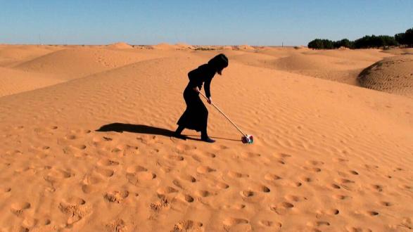 ecofeminism(s) curated by Monika Fabijanska - Hanae Utamura (Japanese, b. 1980) Secret Performance Series, 2010-2013 HD Video, 19:70 min. looped Edition of 3 + 1AP + 1EP ©2010 Hanae Utamura. Courtesy of the artist Wiping the Sahara Desert, 2010, 1:04 min, Sahara Desert, Tunisia Casting the Wave, 2010, 1:03 min, Den Haag, The Netherlands Splashing Water at Sahara Desert, 2010, 2:26 min, Sahara Desert, Tunisia Scrubbing the Edge of Salt Lake, 2010, 00:45 min, Chott el Djerid, Tunisia Surrender: Practice for Unconditional Love, 2010, 4:30 min, Leyton Marsh, London Snow Balloon, 2011, 1:29 min, Hämeenkyrö, Finland Red Line, 2011, 1:42 min, Dover, England Wiping the Snow, 2011, 1:45 min, Haukijärvi, Finland When a Line Becomes a Circle, 2013, 6:46 min, Baengnyeongdo Island, South Korea