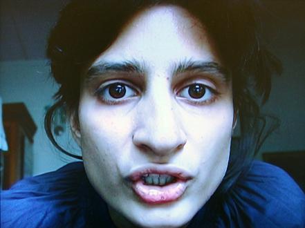 New Art from Pakistan – Noor Ali Chagani, Amna Hashmin, Ayesha Jatoi, Ismet Khawaja, Nadia Khawaja, Murad Khan Mumtaz, Seema Nusrat, Lala Rukh - Ismet Khawaja, Look at me when I talk to you, 2007. DVD, 2:40 minutes, looped. Edition of three.
