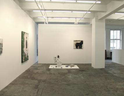 Chen Ke – Li Jikai – Wei Jia - Installation view entering the gallery, east and north wall: Chen Ke.