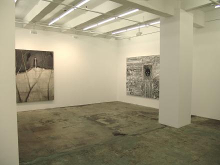 Chen Ke – Li Jikai – Wei Jia - Installation view, west and south wall: Li Jikai, Wei Jia.