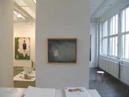 Chen Ke – Li Jikai – Wei Jia - Installation view between main gallery and project space: Wei Jia.