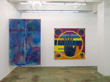 Dona Nelson – in situ: paintings 1973 – present - Installation view, west and north wall.