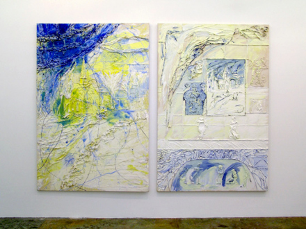 Dona Nelson – in situ: paintings 1973 – present - Installation view, west wall.