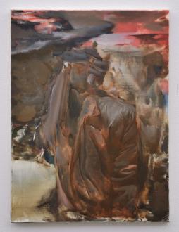 are you dead, yet? – Horst Ademeit, Jason Eberspeaker, Kahlil Robert Irving, Mira Schor - Jason Eberspeaker, Untitled (stacked), 2017. Oil on canvas, 24 x 18 in.