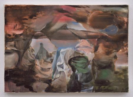 are you dead, yet? – Horst Ademeit, Jason Eberspeaker, Kahlil Robert Irving, Mira Schor - Jason Eberspeaker, Untitled, 2017. Oil on canvas 12 x 17 in.