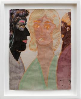 Jackie Gendel – Jackie Gendel - Jackie Gendel, Untitled, 2015. Gouache on paper, 9 x 12 in.
